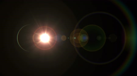 title : Opening Title Lens Flare Intro Light Stock Footage