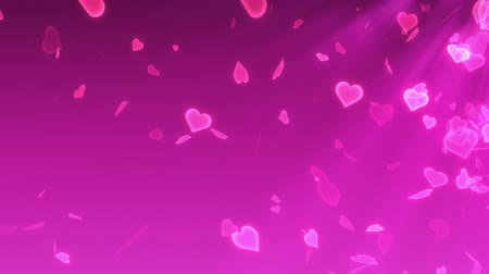 őszibarack : Heart Glitter Ray Background Stock mozgókép