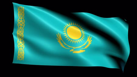 フォーマット : Kazakhstan Flag Loop (Alpha Channel)