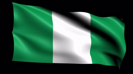 nigeria flag : Nigeria Flag Loop (Alpha Channel) Stock Footage