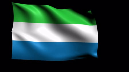 sierra leone flag : Sierra Leone Flag Loop (Alpha Channel)