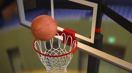 Basketball Goal Shoot Remove CG Stok Video