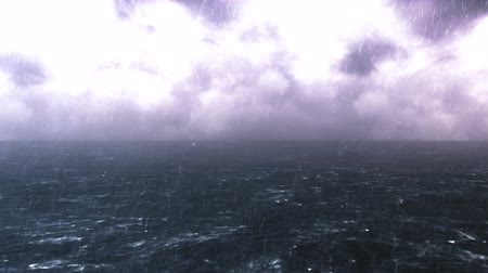 Sea of Rough Thunderstorms CG Background Stok Video