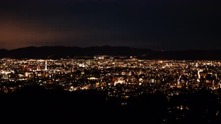 immobilien : Kyoto Shogunzuka Night View Timelapse Full View of the Townscape