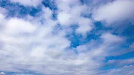 4K Timelapse of beautiful blue sky Spring sky Stock Footage