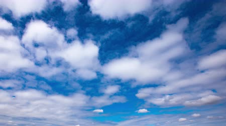 kanto : 4K Timelapse of beautiful blue sky Spring sky Stock Footage