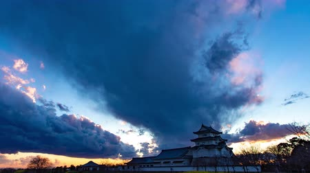 매력 : 4K Japanese Castle Twilight Timelapse Old Castle Sunset Dusk