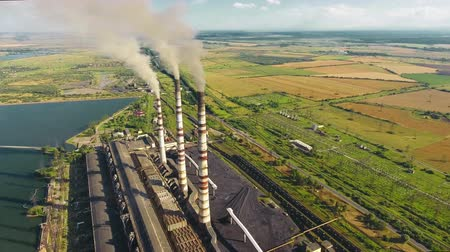 termal : Aerial shot Thermal Power Plant