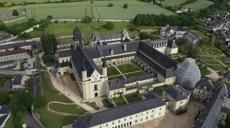 convento : Aerial view of Abbey of Fontevraud, Anjou, Fontevraud Abbey, Maine-et-Loire department, Loire Valley, Loire Valley, UNESCO World Heritage Site, France,
