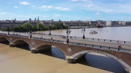 stary : Bordeaux, stone bridge, old stony bridge in Bordeaux in a beautiful summer day,