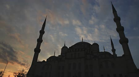 turecko : Blue mosque sunset, Istanbul, Turkey