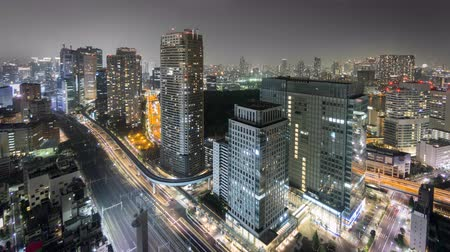 tokio : Night Time-Lapse of downtown in Tokyo Wideo
