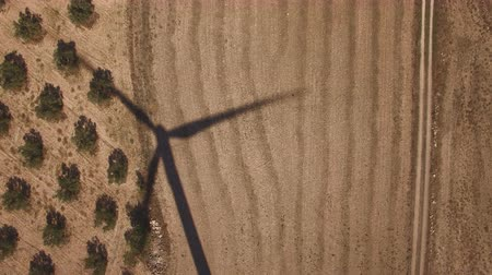 dik : Top view of windmill shadow over cultivated land