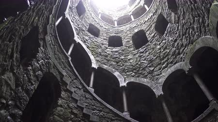 regaleira : Quinta da Regaleira bottom view in 4k