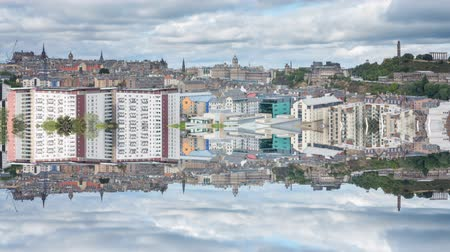 lakes of scotland : Edinburgh reflection, Scotland Stock Footage