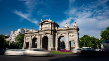 notion : Puerta de Alcala in Madrid loopable time-lapse Stock Footage