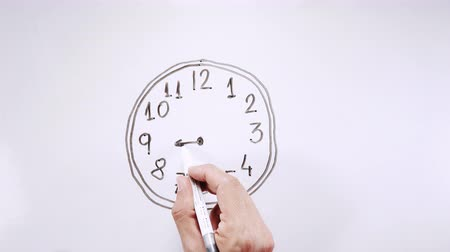 borracha : Drawing clock and moving