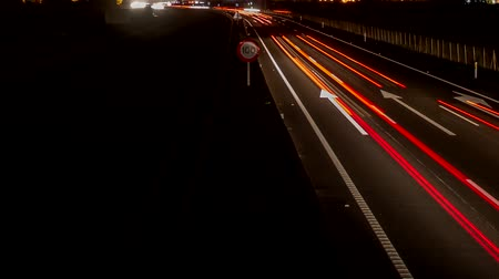 vanishing point : Fast car lights in the highway, loop-ready time lapse Stock Footage