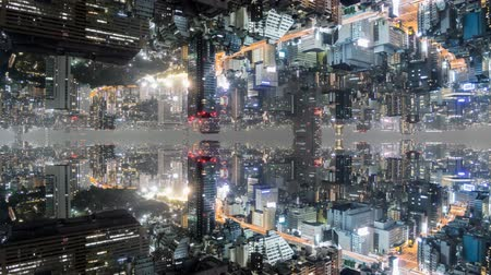 álmodozó : Fantasy time lapse of tokyo with mirrored buildings