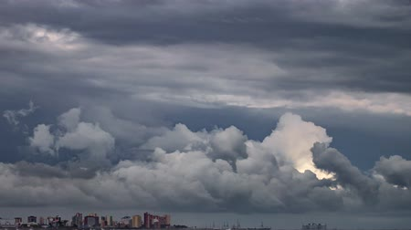 conquest : Timelapse of Storm and clouds over coastal city
