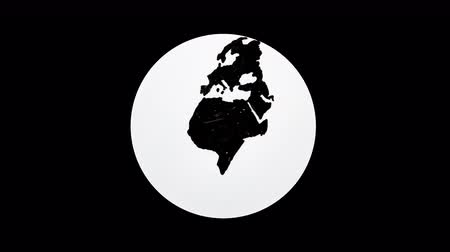 développe : Hand drawing world globe with transparent background and white circle