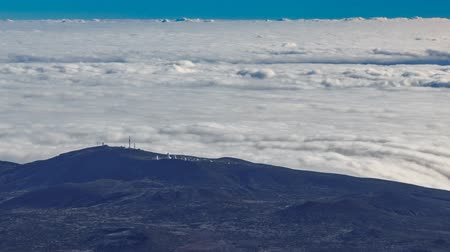 Teide Observatory on top of the clouds timelapse, Tenerife, Spain