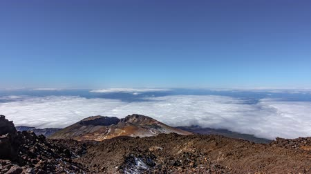 spící : Wide angle Timelapse of Pico Viejo volcano with clouds