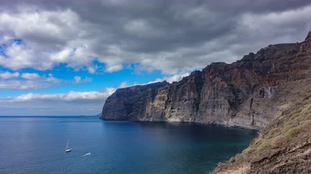 Profile Time lapse of Los Gigantes cliffs in Tenerife Stock Footage