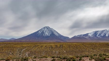 pyramidal : Misty day over Licancabur volcano in Atacama