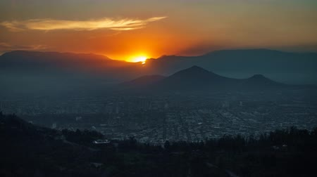 another : Sunset time lapse at Santiago de Chile Stock Footage