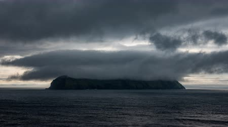 cheat : Mykines island time lapse with cloudscape, Faroe Islands Stock Footage