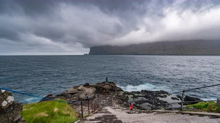 takımadalar : Amazing time lapse of Faroe islands coastline