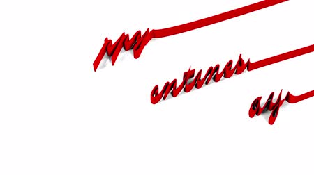 curto : Happy Valentines Day The inscription Happy Valentines Day written glowing ribbon with alpha channels