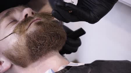 борода : Mens hairstyling and haircutting in a barber shop or hair salon.