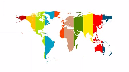 flyer design : Colorful world map Video-Animation mit Etiketten 1920x1080