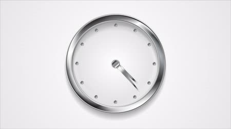 mozgás : Abstract moving wall clock with silver frame. Video animation HD 1920x1080 Stock mozgókép