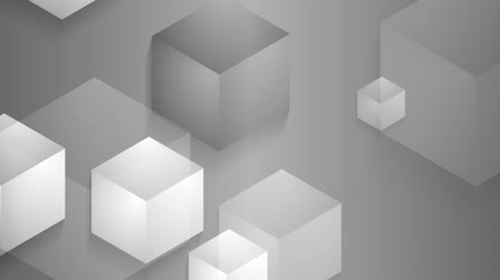 kocka : Grey moving cube shapes background. Seamless loop design. Video animation HD 1920x1080