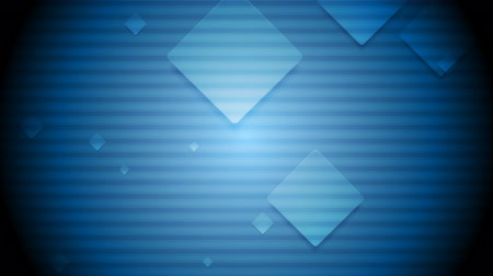 quadrado : Striped blue background and moving squares. Video animation HD 1920x1080