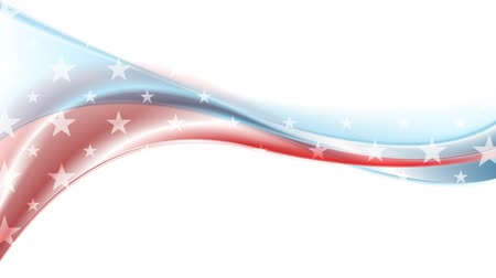 четверть : Usa colors abstract wavy motion background. Video animation 1920x1080 Стоковые видеозаписи