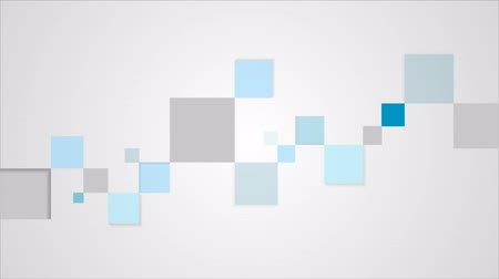 szablon : Blue and grey geometric squares motion graphic template. Video corporate animation HD 1920x1080 Wideo