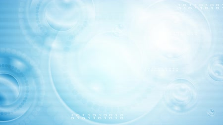 nowoczesne technologie : Bright blue abstract technology motion background. Video animation HD 1920x1080 Wideo