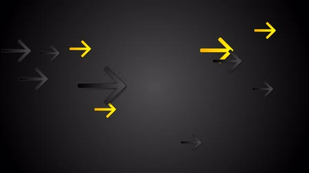 nowoczesne technologie : Yellow and black arrows tech motion background. Seamless looping. Video animation HD 1920x1080