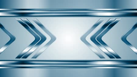 strzałki : Metallic arrows moving towards each other. Blue technology metal motion graphic design. Video animation HD 1920x1080 Wideo