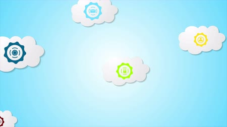 rede social : Abstract social communication motion design with clouds. Seamless looping. Video animation Ultra HD