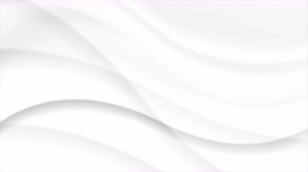 gray background : White abstract flowing wavy motion background. Video animation Ultra HD 4K 3840x2160