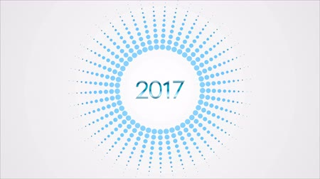 halftone : 2017 Happy New Year holiday animated background. Motion graphic design video clip Ultra HD 4K 3840x2160 Stock Footage