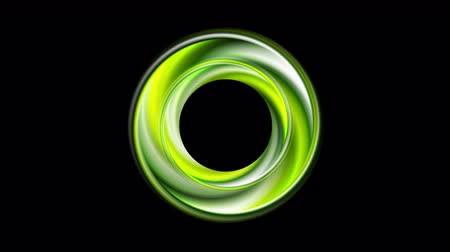 eleganckie : Green glossy circle motion graphic design. Video animation Ultra HD 4K 3840x2160