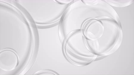 homályos mozgás : Abstract grey glossy circles motion background. Video animation Ultra HD 4K 3840x2160