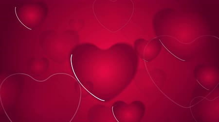 red symbol : Abstract bright red pink hearts motion background. Valentines Day graphic design. Video animation Ultra HD 4K 3840x2160