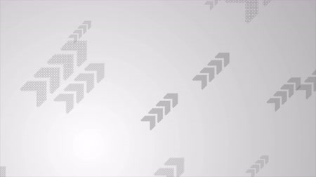 motion elements : Abstract grey tech business motion background with arrows. Seamless loop graphic design. Video animation Ultra HD 4K 3840x2160